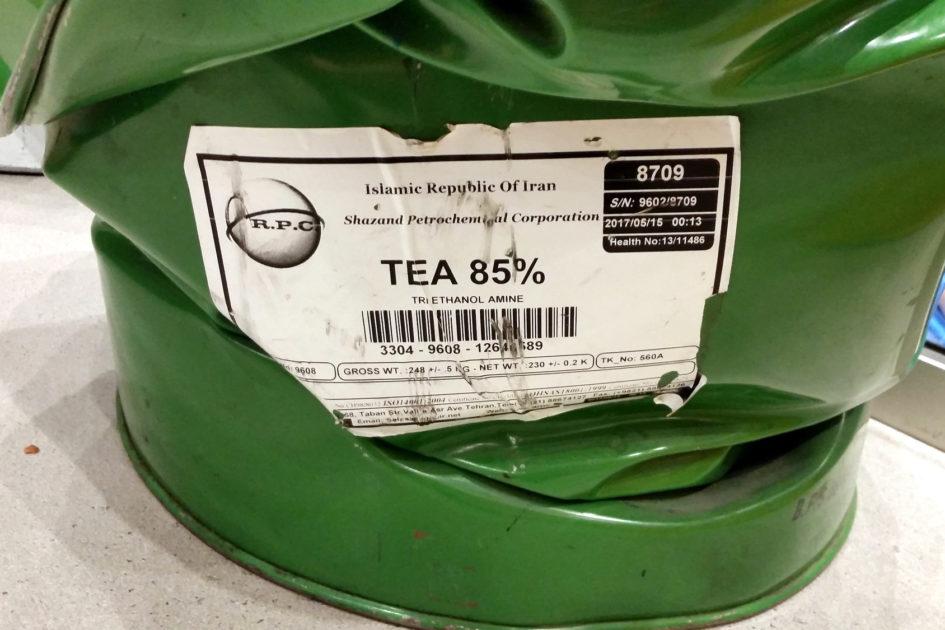Если на бочке из-под триэтаноламина написано «Чай» — не верьте глазам своим.