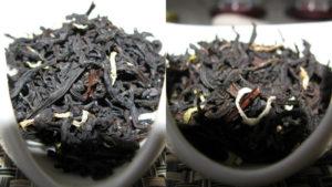 Первые образцы черного чая с натуральной цедрой цитрона. Слева — на основе TTES-18, справа — на основе TTES-8.
