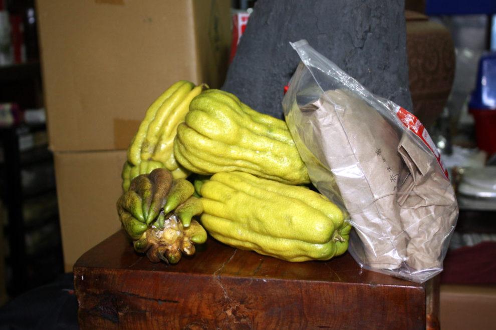 Плоды Citrus medica var. sarcodactylis