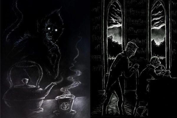 Иллюстрации к новелле Шеридана ле Фаню «Зеленый чай». www.oldstyletales.com