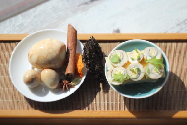 Чайные яйца, компоненты их «ароматизации» и вариант использования. © Ольга Никандрова